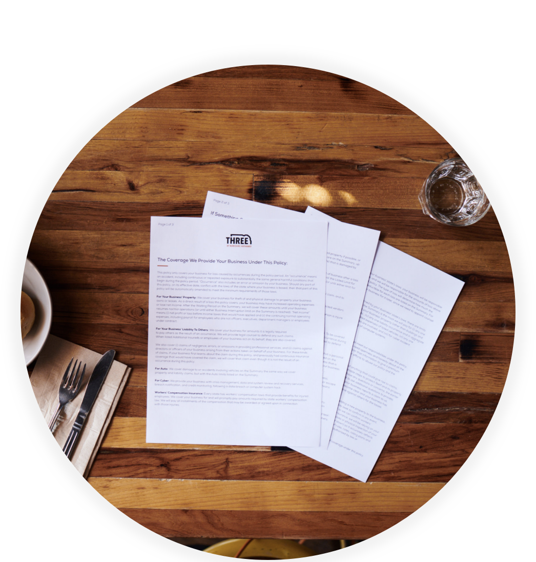 Get one comprehensive policy to protect your small business.